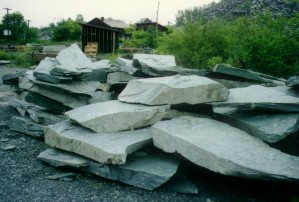 A pile of natural slate