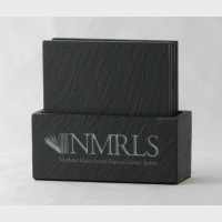 Coaster set in slate box - NMRLS