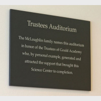 naming trusstees auditorium at gould academy
